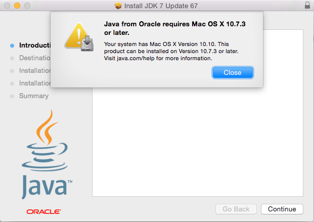 System Requirements for Installing the JDK and JRE on macOS
