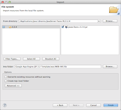 Configuring JSF 2 2 to run on the Google App Engine Using